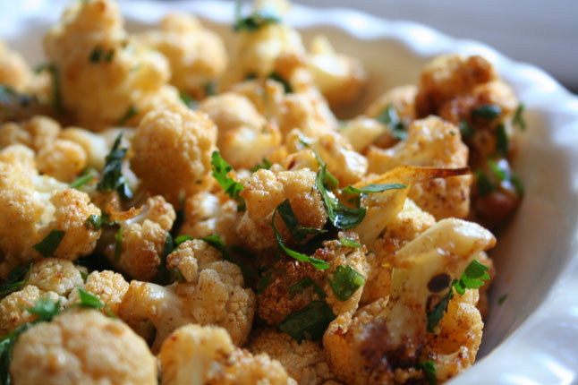 ROASTED CHILE LIME CAULIFLOWER RECIPE